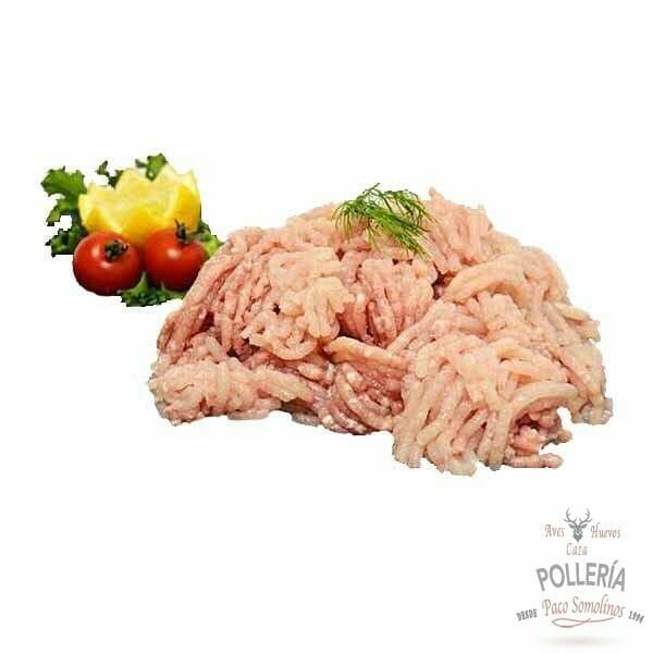 carne picada de pollo de corral_polleria_somoinos