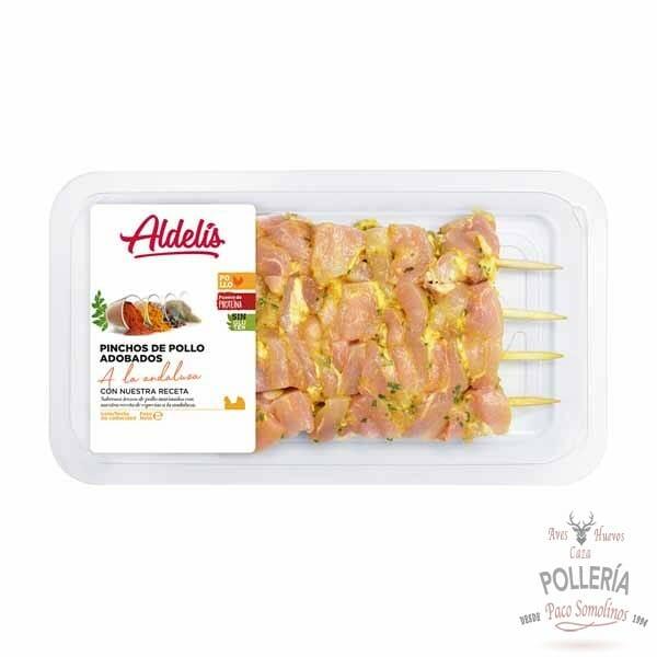 pincho de pollo adobado_polleria_somolinos