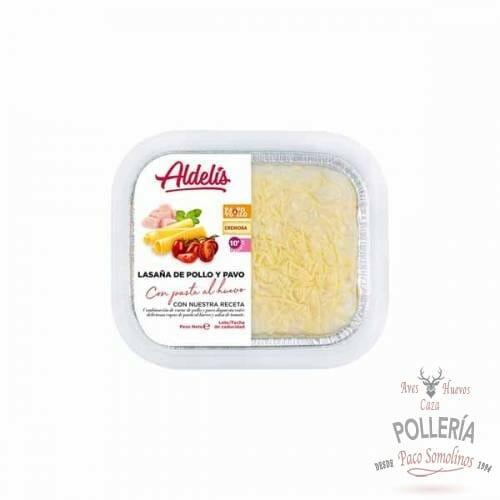 lasaña de pollo y pavo_polleria_somolinos