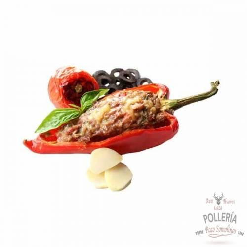 pimientos rellenos de carne_polleria_somolinos