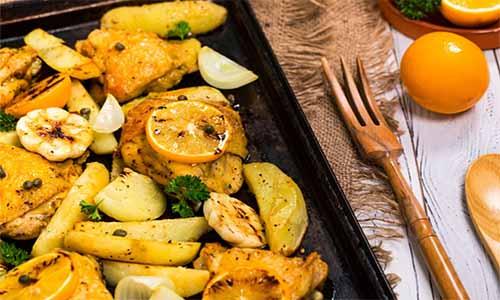 pollo al horno naranja con patatas_polleria_somolinos