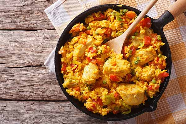 arroz con pollo facil y rapido polleria somolinos